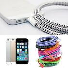 1M 2M 3M 8 Pin Cord USB Sync Data Braided Charger Cable For iPhone 5 5s 6 plus