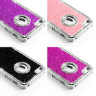 QUALITY Diamonte Glitter Case Cover For Iphone 4 4S 5 5S Free Screen Protector