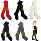 1 Pairs Girls Kids Back To School Plain Long Tights Cotton Rich Uniform Socks