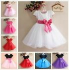 Flowers Girl Princess Pageant Wedding Bridesmaid Party Communion Tulle Dresses