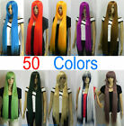 40 inch (50 colors) Extra Long 100cm Straight Cosplay Wig hairnet SK{01-30}