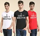 I CAN'T BREATHE 100% Cotton Short sleeve Tee T-shirt Round Neck Summer DLP18F01