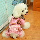 pet clothes winter coat four legs cotton-padded jacket Dog Hoodies 5size 100