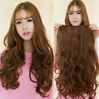 High Clip in Hair Extensions Sexy Long Curly Human Hair Extensions Synthetic Wig
