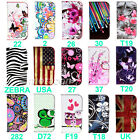Fashion Flower Wallet Stand Flip Leather Skin Case Cover for HUAWEI Ascend Y600