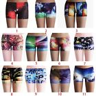 Women 3D Colorful Stretch Slim Tight Hot Short Shorts #02 DK