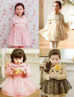 Girls Kids Lace Trench Coat Wind Jacket 2-7Y Tulle Autumn Winter Outwear Clothes