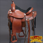 "TO108 HILASON TREELESS WESTERN TRAIL BARREL RACING SADDLE 15"" 16"" 17"" 18"""