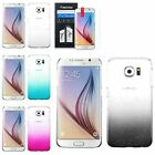 For Samsung Galaxy S6 Transparent Gradient Water Drop Back Case Cover+LCD Film