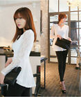 Hot sale Women's Lace Blouse Long Sleeve Chiffon Tops T-shirt 095  USHF
