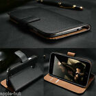 Real Genuine Leather Wallet Case Pouch Cover For New Samsung Galaxy S5 SM-G900