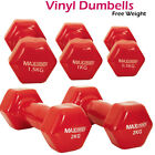 Vinyl Coated Dumbells Set Home Fitness Strength Training Workout Free Weights