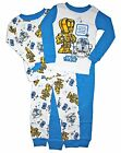 Star Wars 4 PC Long Sleeve Tight Fit Cotton Pajama Set Boy Size 5T
