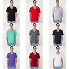 (Free PnP) American Apparel Mens/Womens Short Sleeve V-Neck Plain T-Shirt/Tee