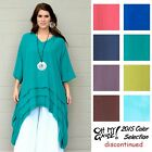 OH MY GAUZE Cotton Drip-Side GENEVA Long Tunic OSFM XL/1X/2X/3X 2015 DISC COLORS