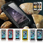 Shockproof Aluminum Glass Metal Case Cover for iPhone 5s 6 & 6 Plus