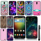 For LG Lucid 3 VS876 Cute Design TPU SILICONE Rubber Case Phone Cover + Pen