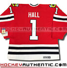 GLENN HALL CHICAGO BLACKHAWKS JERSEY CCM VINTAGE RED