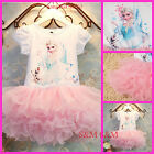 241 Baby Pink Costume Christmas Gift Disney Frozen Fancy Girls Dress Age 3-8