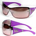 DG Eyewear Womens Large Oversized Shield Wrap Sunglasses Designer Fashion Shades