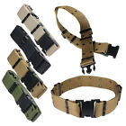 Men's Outdoor Adjustable Survival Tactical Nylon Belts Emergency Rigger Military