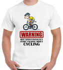 CYCLING T-Shirt MAY SPONTANEOUSLY START TALKING ABOUT Mens Funny Bike Mountain