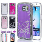 Luxury Bling Diamond Metal Aluminum Hard Case Cover Skin For Samsung Galaxy S6