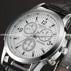 Classic Luxury Mens Watches Leather Analog Quartz Business Wrist Watch Gift