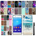For Sony Xperia Z4 Z3+ Plus Design TPU SILICONE Rubber Soft Case Cover + Pen