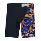 Speedo Print Leg Jammer  Boys  Swimming Shorts - Navy/Orange