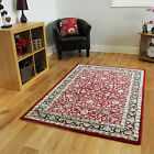 Red Traditional Mats New Small X Large Rugs Easy Clean Soft Touch Carpet Rugs