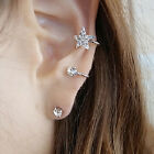 Economic Crystal Five Star Shape Ear Stud Wrap Earring Cuff Eardrop Jewelry HFS
