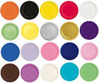 """Packs of 16 Solid Colour 9"""" Round Paper Plates - Party Plate - Tableware"""