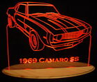 "1969 Camaro SS B Edge Lit Acrylic Light Up LED Sign 11""-13""  69 VVD1 USA"