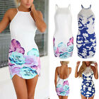 Ladies Summer Beach Strappy Lace Hollow Backless Costume Party Dress