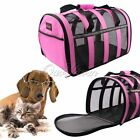 Puppy Dog Cat Portable Crate Carrier House Kennel Pet Travel Bag Cage Pink Black