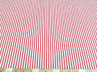 Discount Fabric Quilting Cotton Cherry Red and White Stripe CT009
