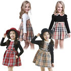 Princess Kids England Top Dress Plaid Ruffle Skirt Check Nova Lattice Outfit