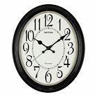 RHYTHM WESTMINSTER CHIME SILENT SWEEP ( NO TICK ) OVAL WALL CLOCK.NEW.2 COLOURS