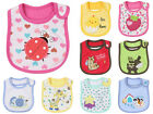 NewBaby Infants kids bibs/ baby lunch bibs/ cute towel 3 Layer Waterproof 9style