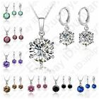 Classic Jewelry 925 Sterling Silver Clear CZ Beads Women Wedding Jewelry Sets