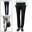 Mens Casual NEW Zipper Fly Straight Slim Fitted Trousers