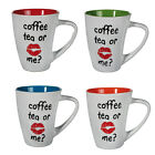 COFFEE TEA OR ME MUG FUNNY GIFT IDEA NOVELTY OFFICE NEW FINE CHINA CUP KITCHEN