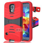 For Samsung Galaxy S RUGGED Hard Rubber w V Stand Case Colors