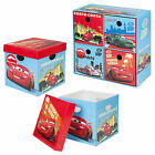 Disney Cars Cardboard Storage Boxes Toys Arts Playroom Box Chest Organiser NEW
