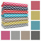 NARROW CHEVRON STRIPE 100% COTTON FABRIC by the metre   WIDE WIDTH