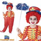KIDS FUNNY COLOURFUL CIRCUS HOOP CLOWN -  Age 3-13 - Boys Fancy Dress Costume