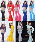 Sexy Yoga & Belly Dance Costume With Beads 2PCS:Top &Pants 9Colors Free Shipping