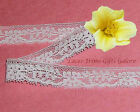 "2 Yards Lace Trim White French 5/8"" Vintage I33BV Added Items Ship No Charge"