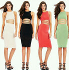 2015 Sexy Women Crop Top Bandage Bodycon Club Cocktail Party Evening Dress S M L